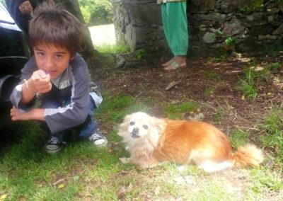 LITTLE CHILD & LITTLE DOG